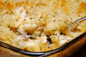 Chicken Cordon Bleu Mac and Cheese