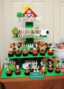 Farm Cupcake Stand