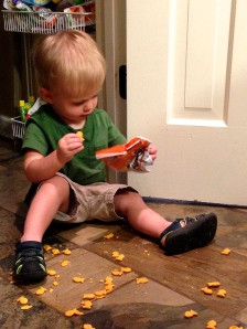 Beckett and goldfish