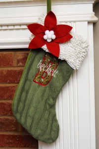 Appliqued and Embroidered Stocking - Beckett