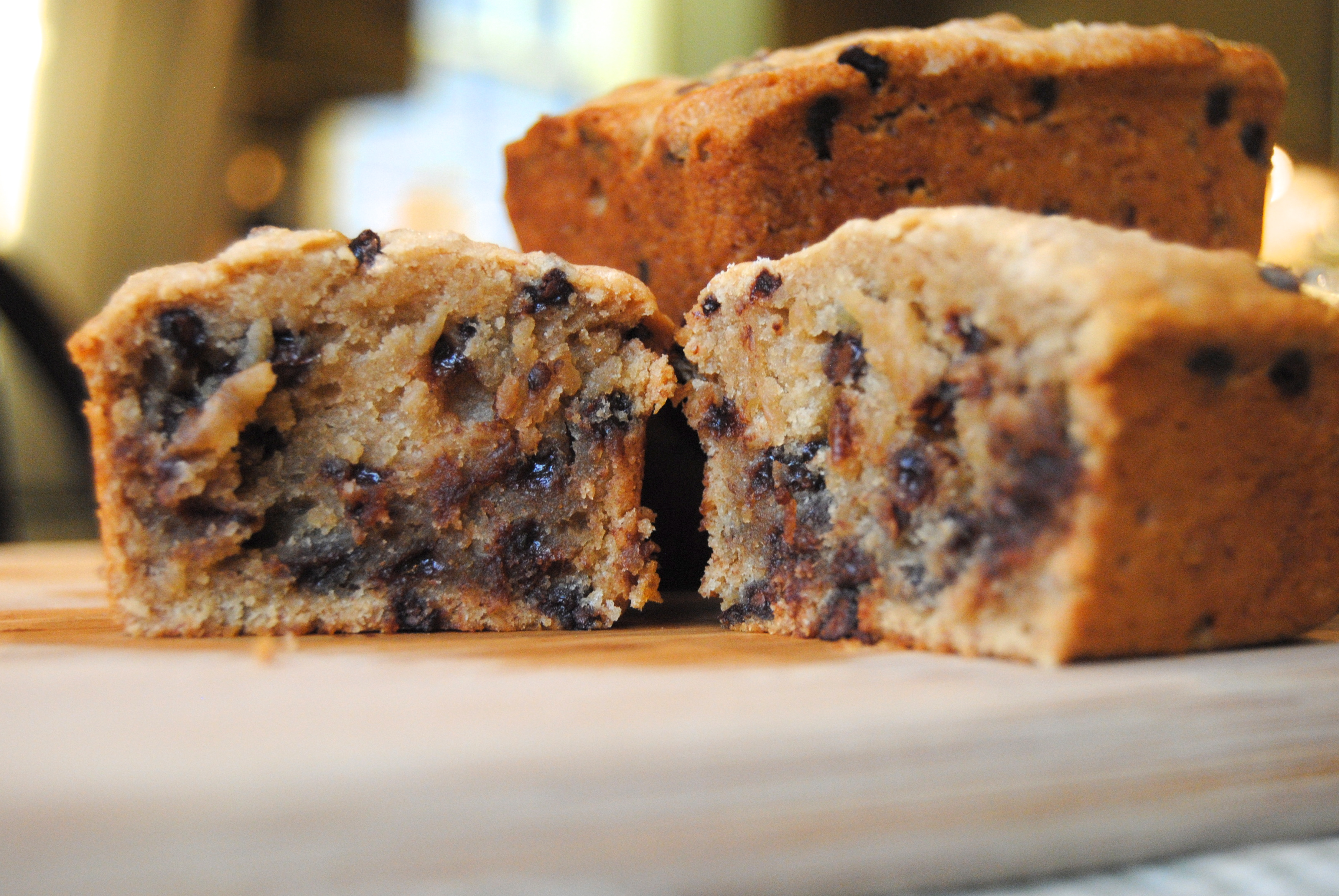 Peanut Butter Banana Bread with Chocolate Chips | Biscuits ...