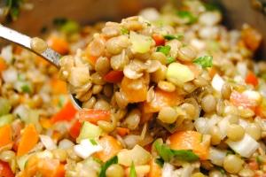 Carrot Lentil Salad