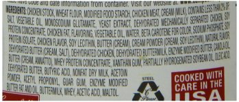 Cream of Chicken Ingredients