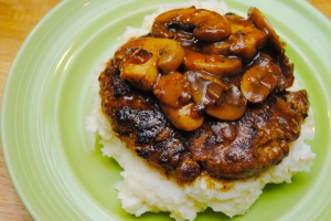 Salisbury Steak with Mushroom Gravy1