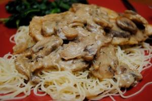 Savory Mushroom Asiago Chicken