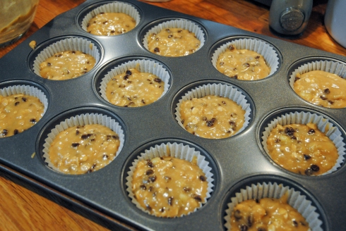 GF Banana and Chocolate Chip Muffins5
