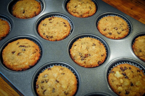 GF Banana and Chocolate Chip Muffins6