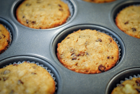 GF Banana and Chocolate Chip Muffins